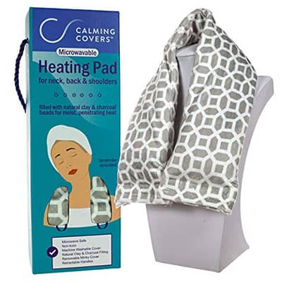 Calming Covers - Microwavable Heating Pad Wrap for Cramps, Neck, Shoulder, and Back Pain