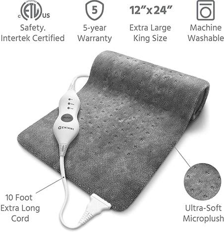 Geniani XL electric heating pad
