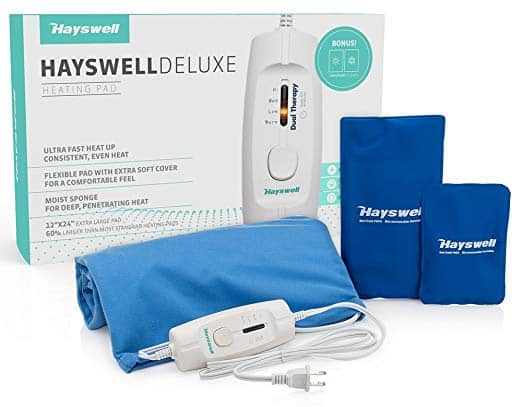 Hayswell Deluxe Heating Pad for back pain & cramps