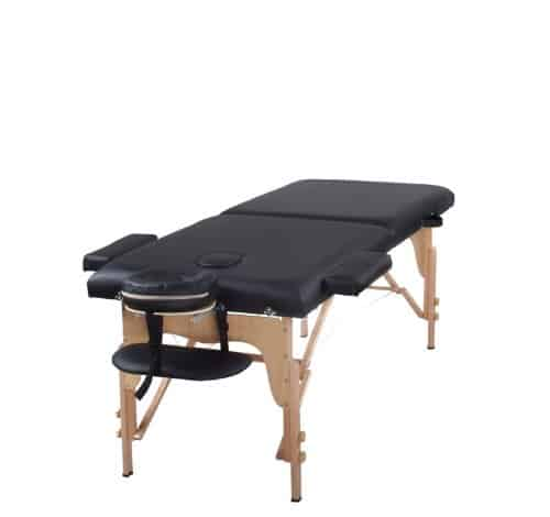 Table Two Fold Beige Portable Massage Table