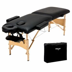 Uenjoy Folding Massage Table 84'' Professional Massage Bed