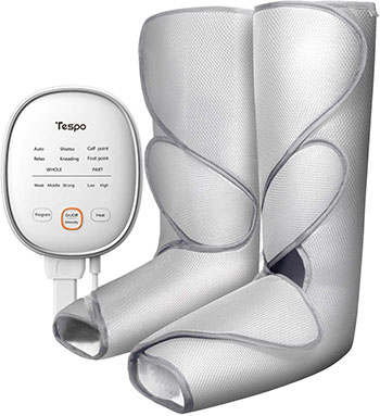 Tespo Foot and Calf Massager With Heat Air Compression
