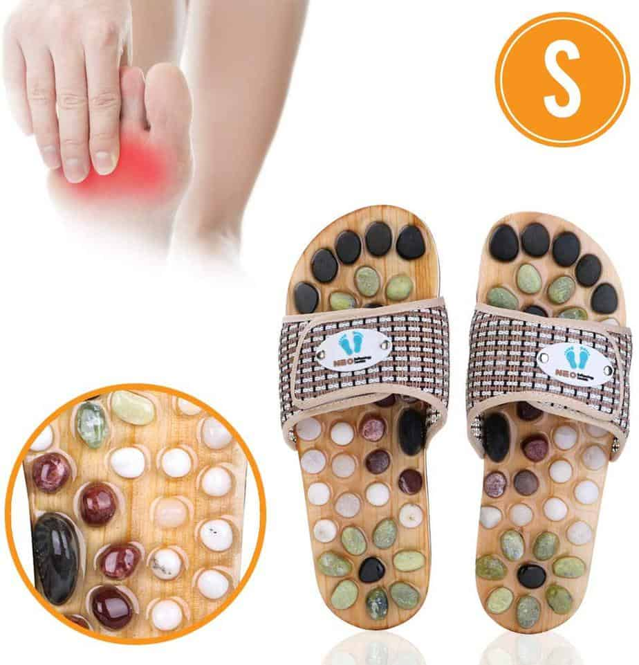 Accupressure Massage Slippers with Earth Stone from Neo Reflexology Sandals