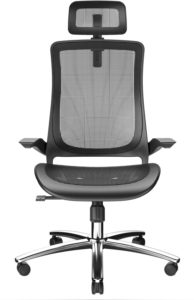 Bilkoh Office chair with breathable mesh seat and firm armrests