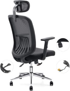 Cedric office chair with breathable mesh and lumbar support