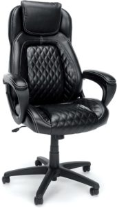 OFM Essentials Collection Racing Style Leather High back office chair