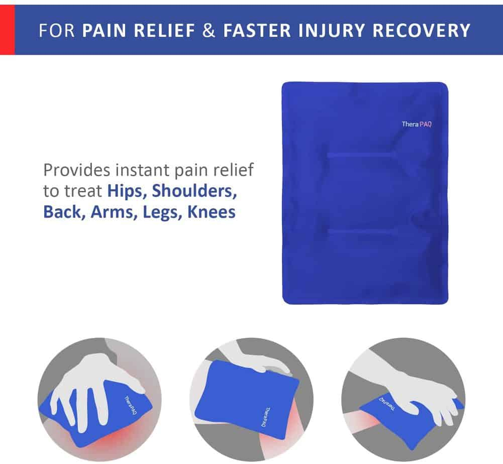 TheraPAQ Pain Relief Flexible Ice Pack.