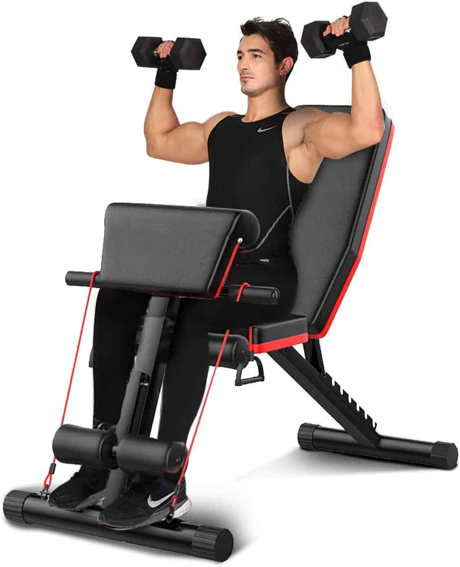 BILLNA Adjustable Weight and Sit Up Bench