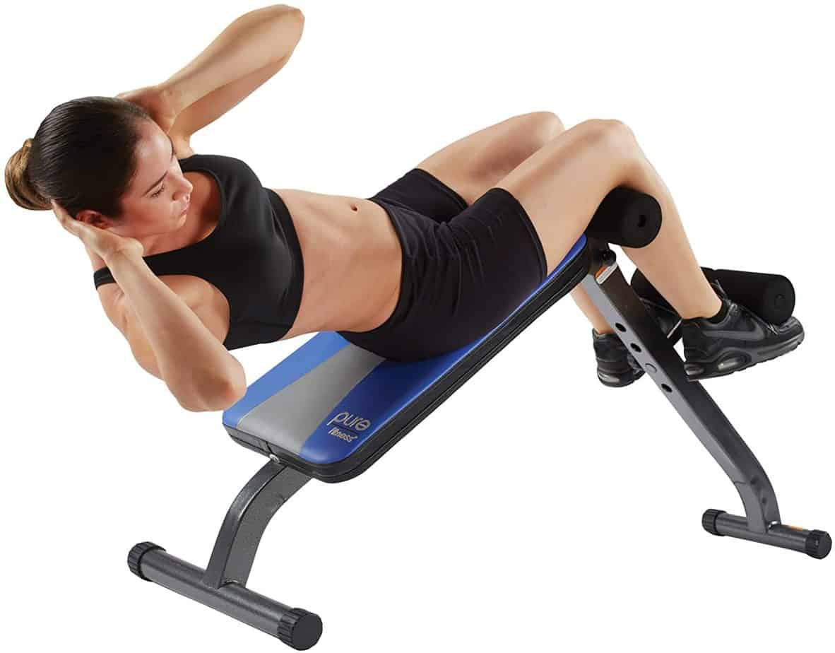 Pure Fitness Adjustable Ab Crunch Sit Up Bench