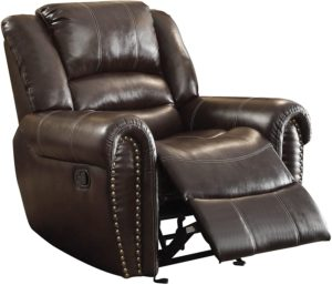 Homelegance center hill bonded leather reclining chair