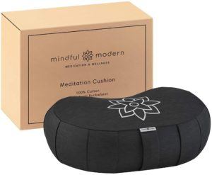 Mindful and Modern Crescent Meditation Cushion