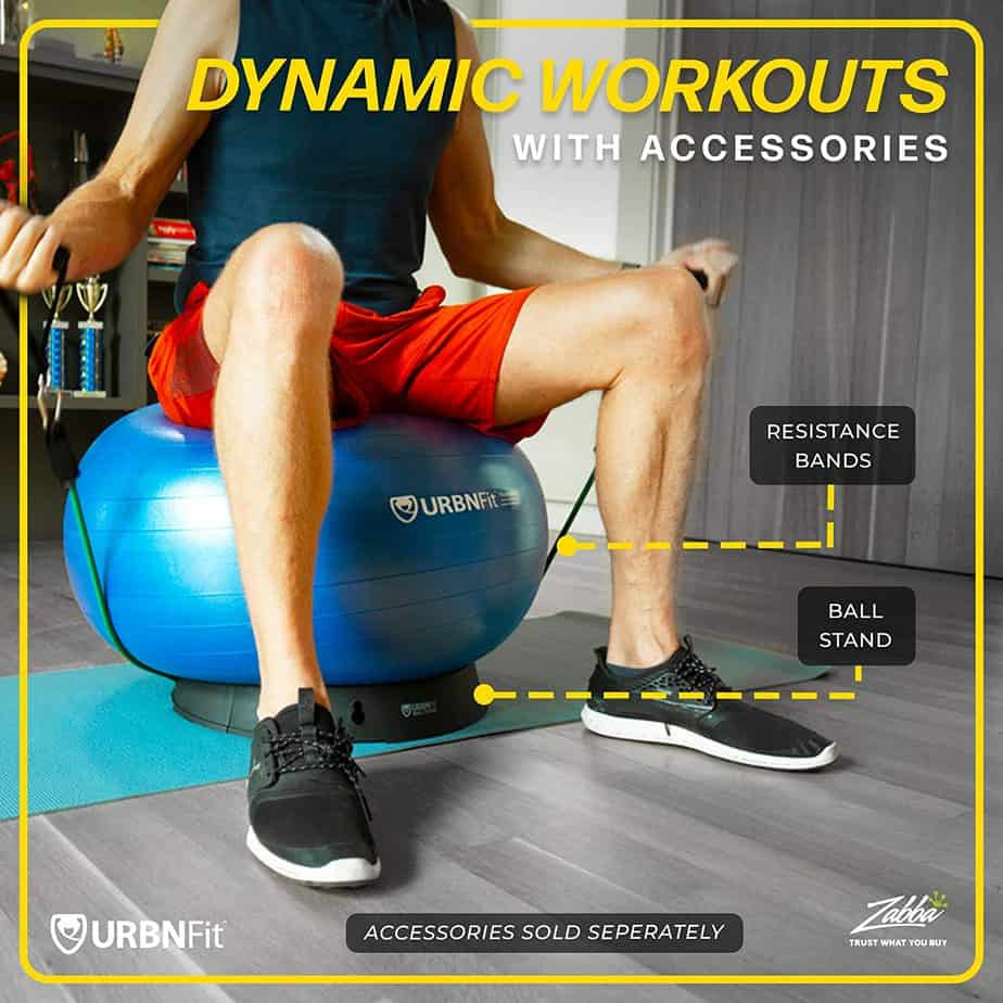 URBNFit Exercise Ball for Stability